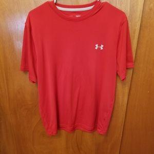 Under Armour HeatGear Mens Performance T-Shirt Red